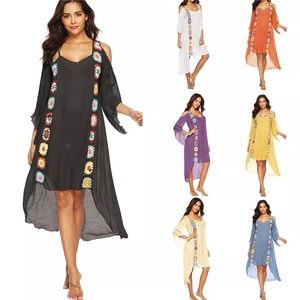 Summer Beach Cover Up Plus Size Dress Swimwear